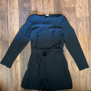H&M | Black Long Sleeve Romper